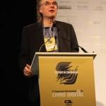 Oren Teicher, CEO da American Booksellers Association, no V Congresso do Livro Digital, em São Paulo.