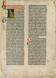 Facsímile da B-42, impressa por Gutenberg