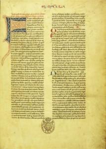Bíblia de Mogúncia - 1462 - Biblia Pulchra, impressa por Fust & Schoeffer, da qual há um exemplar na Biblioteca Nacional - RJ