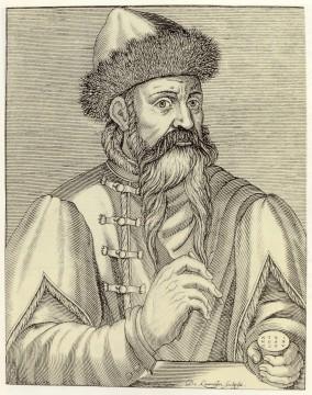Johannes Gutenberg, em gravura produzida depois de sua morte.