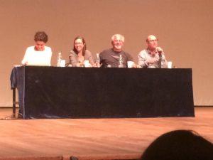 Mesa na ABRALIC - Rita Palmeira, Laura Erber, Eu, Luiz Ruffato